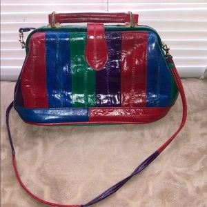 Vintage colorful satchel